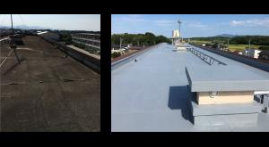 屋上防水塗装の例